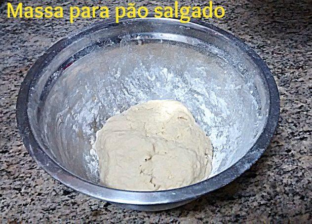 Massa pão salgado