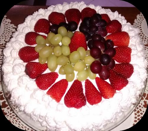 Torta com frutas